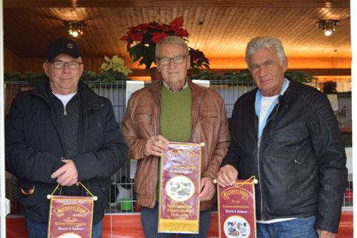 Gewinner der Strasser-Bänder v.l. R. Bannert, H. Metzner und A. Mages