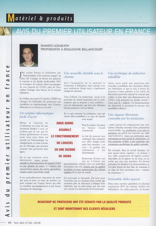 Tech. Dent. Num 231 de février 2006