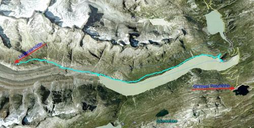 GPS-Track zur Lauteraarhütte