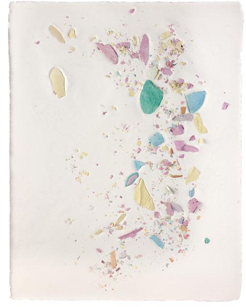 Plaster Painting #6, 2016, pigmented plaster on plaster, 52x40cm  Foto: Anna Lott Donadel