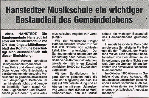 Nordheide Wochenblatt Juni 1991
