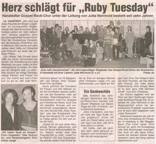 Nordheide Wochenblatt 22.10.2005