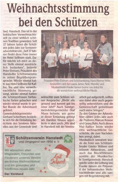 Unser Hanstedt Dezember 2017