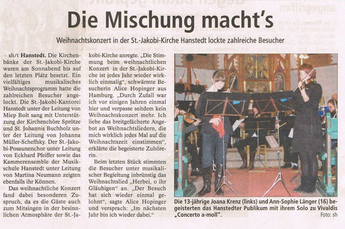 Winsener Anzeiger 15.12.2008