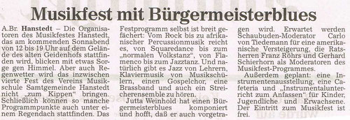 Harburger Rundschau 09.07.1998