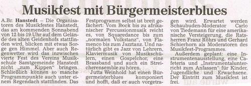Harburger Rundschau 09.07.1998
