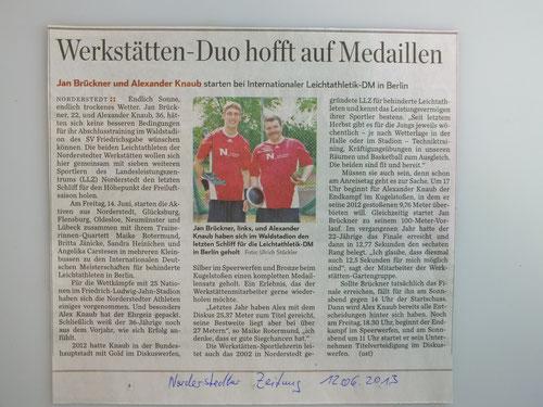 Medaillen für Werkstätten-Duo