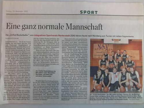 Unified Basketballer fahren nach Nürnberg 2012