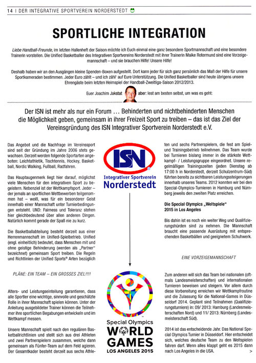 Sportliche Integration ISN