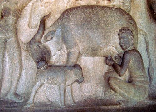 Mamallapuram, Südindien.