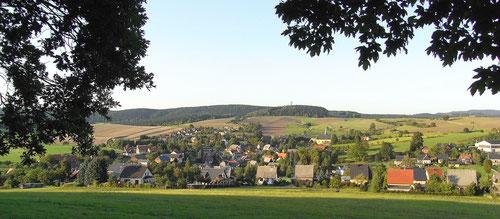 Weite Landschaft: Hinterhermsdorf (Sächsische Schweiz)