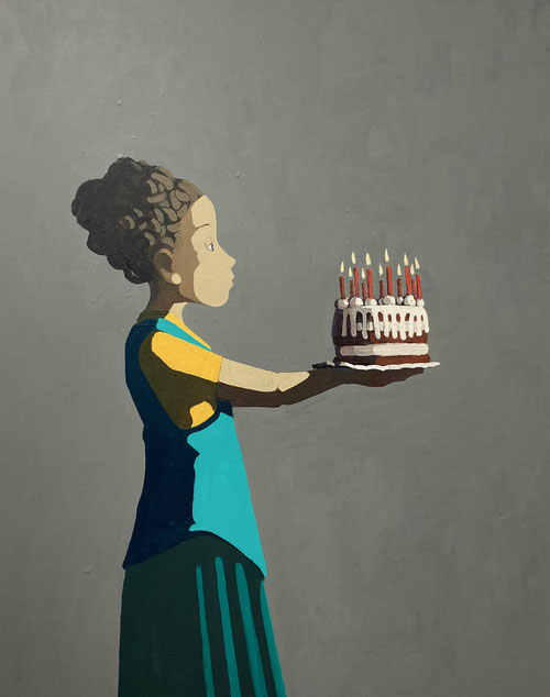 birthday cake - Acryl auf Leinwand, 100x80cm, 2020