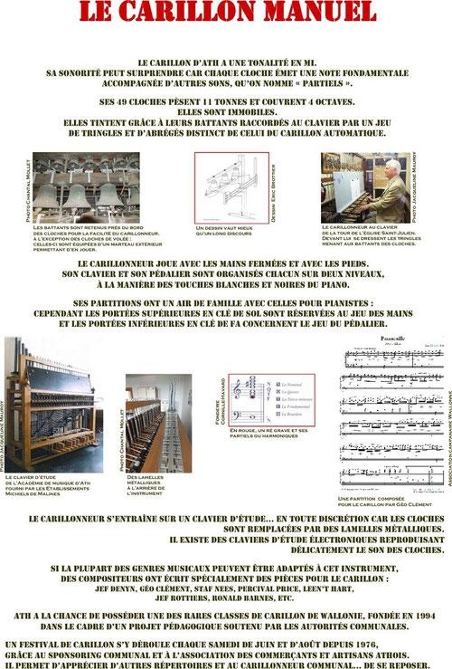 Panneau de l'expo : Le carillon manuel