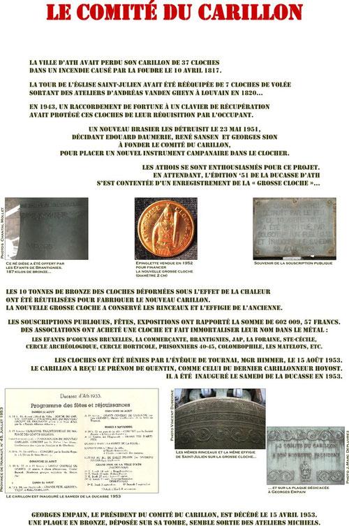 Panneau de l'expo : Le comité du carillon