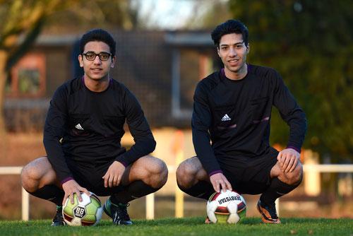 Die zwei neuen Schiedsrichter-Anwärter Ahmad Masfaka und Moshtaq Tokhi (Foto: Henrik Bagdassarian)
