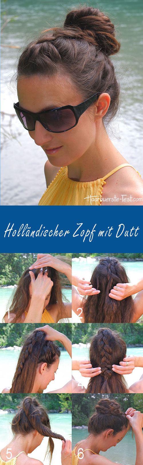 Messy Dutt Anleitung, Holländischer Zopf mit Dutt