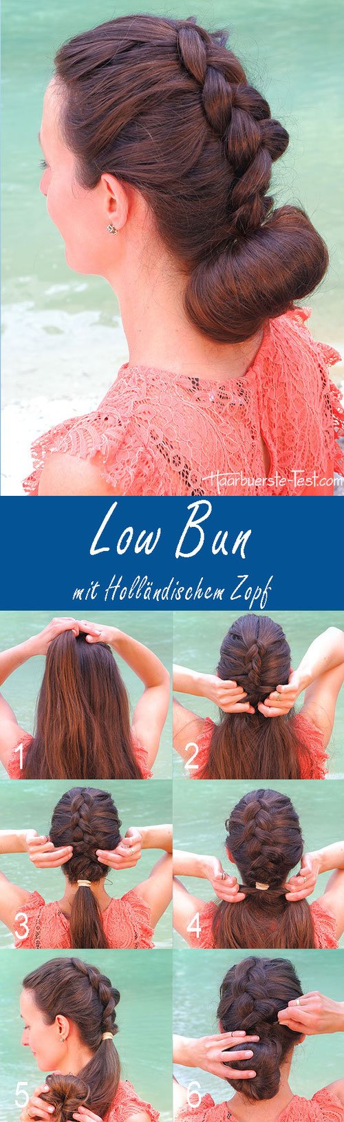 Low Bun Anleitung, Low Bun Tutorial