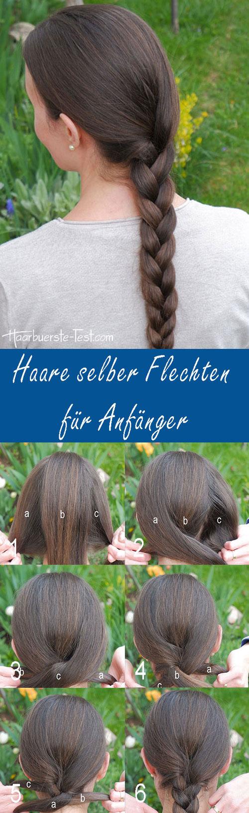 Geflochtener Zopf Anleitung, Zopf flechten Anleitung