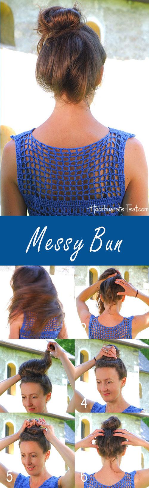 messy bun anleitung deutsch, messy bun anleitung, messy bun anleitung lange Haare