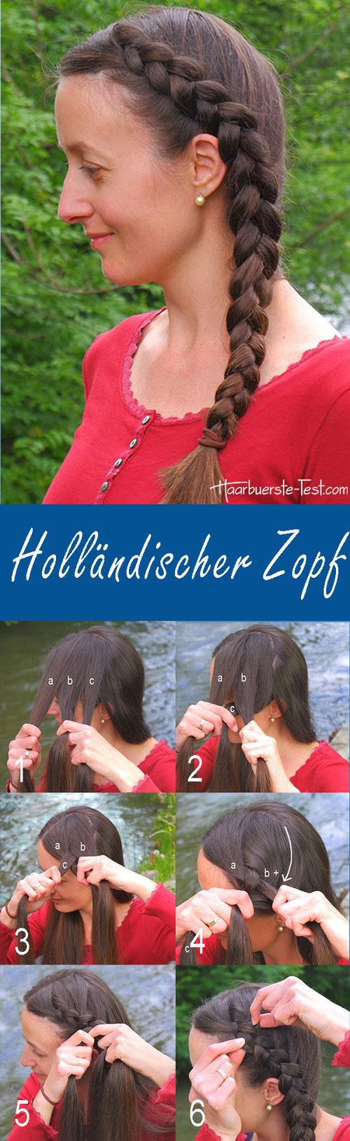 Holländischer Zopf Anleitung, Holländischer Zopf Schritt für Schritt