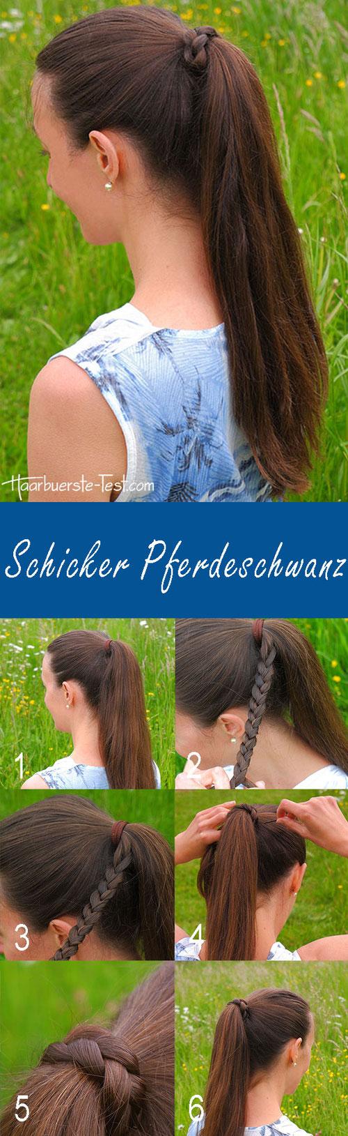eleganter Pferdeschwanz, Pferdeschwanz Anleitung, Anleitung Pferdeschwanz