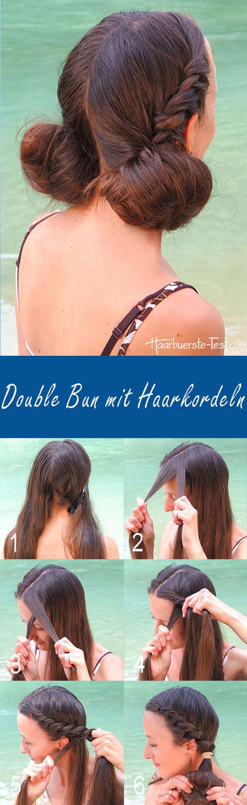 double Bun anleitung, double bun tutorial