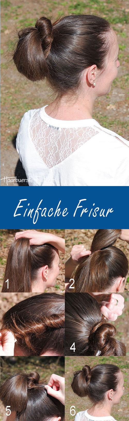 einfache Frisur Anleitung, einfache Frisur für lange Haare