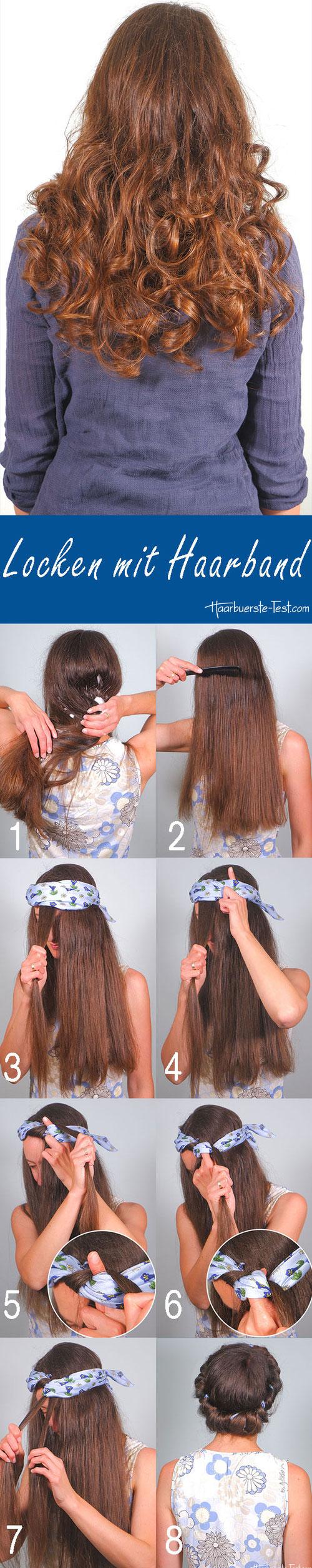 Locken mit Haarband, Locken mit Haarband Anleitung, Locken über Nacht