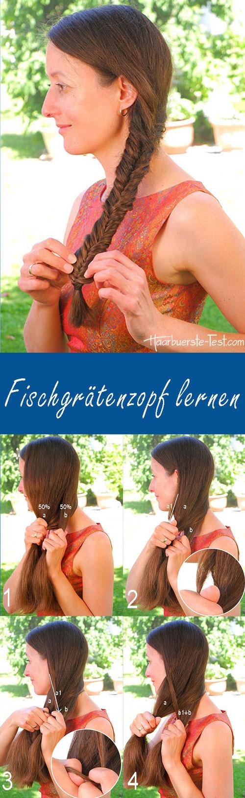 Seitlicher Fischgrätenzopf Anleitung, Fischgrätenzopf lernen, seitlicher Fischgrätenzopf Anleitung, Fischgrätenzopf für Anfänger,