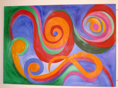 """samba"", öl auf leinwand, 100 x 140 cm"