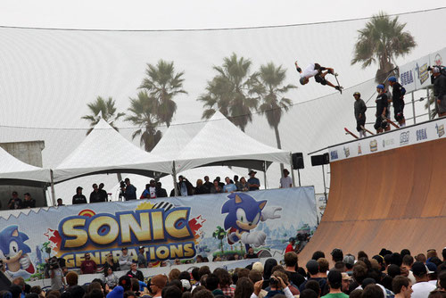 Skateboarding Contest at Venice Beach