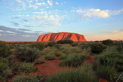 Sunset am Uluru