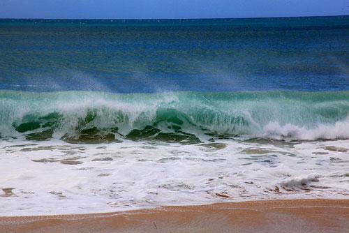 Brandung amTunnel Beach