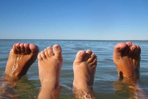 Die schönsten Zehen Australiens