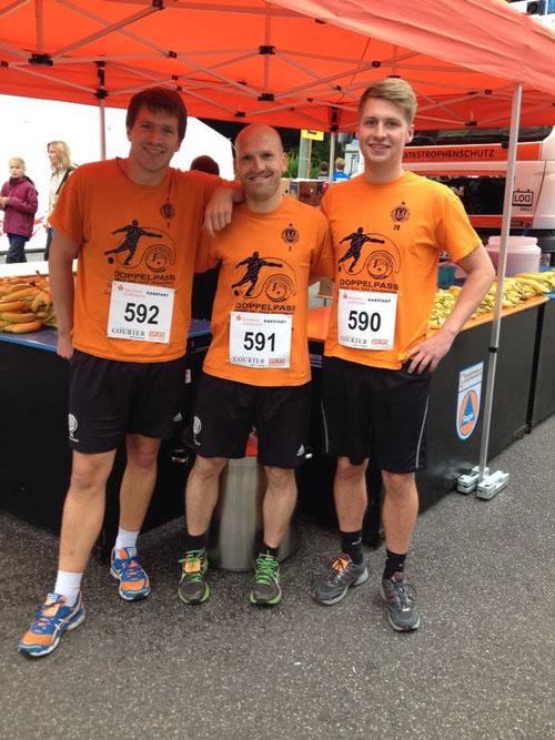 Vor dem Lauf: Morten Boller (592), Alexander Klucke (591) und Kim Hülsen (590)