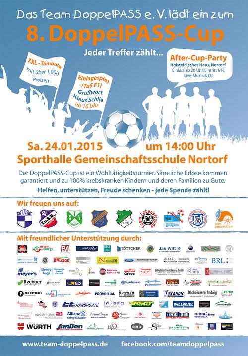 Das offizielle Veranstaltungsplakat zum 8. DoppelPASS-Cup