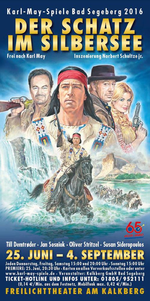 Offizielles Plakat zu den Karl-May-Spielen Bad Segeberg 2016