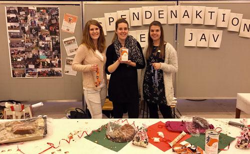Die Organisatoren von der Jugend- und Ausbildungsvertretung der Stadt Neumünster (von links): Anna-Lena Wriedt, Neele Knäpper und Janine Argens