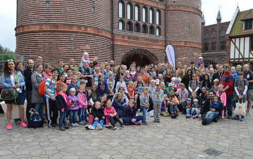 Gruppenfoto des HANSA-PARK-Besuchs 2014
