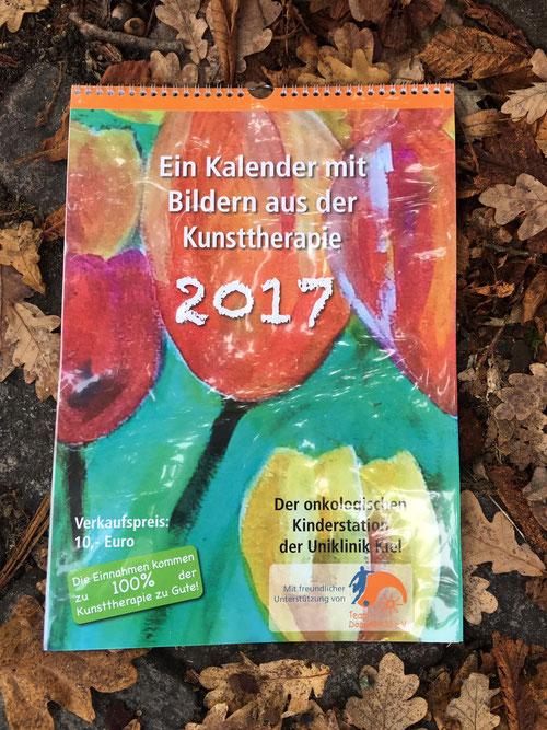 Der Kalender mit Bildern aus der Kunsttherapie für das Jahr 2017