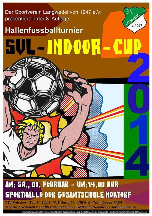 Plakat zum SVL-Indoor-Cup 2014