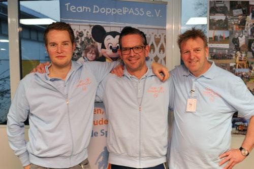 Ein DoppelPASSer geht, zwei kommen neu hinzu: Christoph Dibbern, Timo Görlitz und Schorsch Lühn