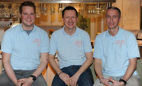 Neu im Vorstand beim Team DoppelPASS (v.l.n.r.): Christoph Dibbern (Kassenwart), Kim Häusgen (Vorsitzender) und Torsten Schulz (stv.  Vorsitzender)