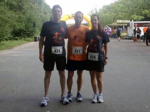 Oliver Goebel, Torsten und Sonja Schulz (von links)