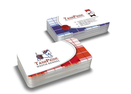 luxury business cards; business card kennel; business card west highland white terrier kennel; creative beautiful business cards; order business cards online; business cards design; design; price; cost; Kiev; Ukraine; exclusive business cards;