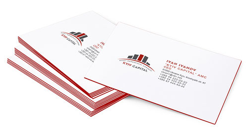 business cards layout order; Kyiv Capital; Asset Managment company; Ukraine; zakazat disain vizitok;
