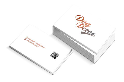 dog pet store business cards design; business cards minimalizm white design; Dog Decor shop; PRS LA BEAUTY