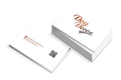 dog pet store business cards design; business cards minimalizm white design; Dog Decor shop; PRS LA BEAUTY