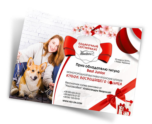 luxury gift certificate design; 2017; 2018; animals; dogs; cats; pets; order; PR Studio LA BEAUTY; PRS LA BEAUTY; Ukraine; disain diplomov Ukraina zakazat;
