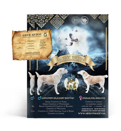 dog presentation posters middle central asian dogs kennel Heruvim mate design